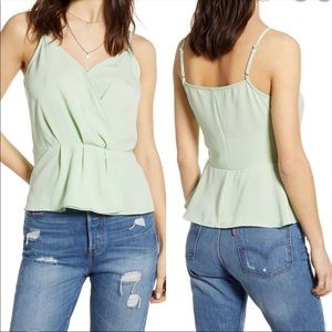 OFFERS? NEW LEITH Faux Wrap Mint Camisole Top XS